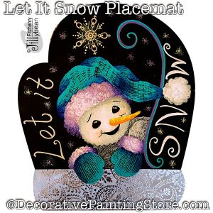 Let It Snow Placemat DOWNLOAD - Jillybean Fitzhenry