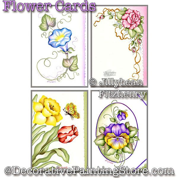 Flower Cards PDF Download - Jillybean Fitzhenry