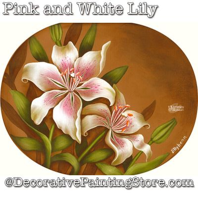 Pink and White Lily Download - Jillybean Fitzhenry