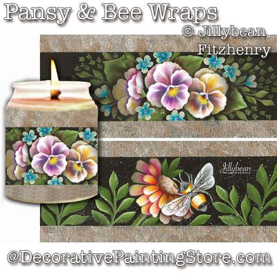 Pansy & Bee Wraps DOWNLOAD - Jillybean Fitzhenry