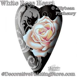 White Rose Heart DOWNLOAD - Jillybean Fitzhenry