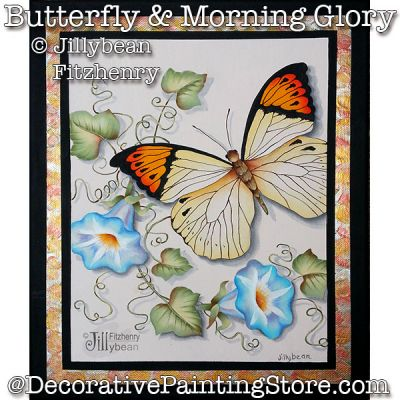 Butterfly and Morning Glories PDF Download - Jillybean Fitzhenry