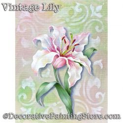 Vintage Lily Download - Jillybean Fitzhenry