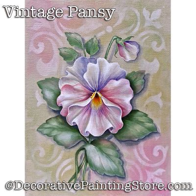 Vintage Pansy Download - Jillybean Fitzhenry