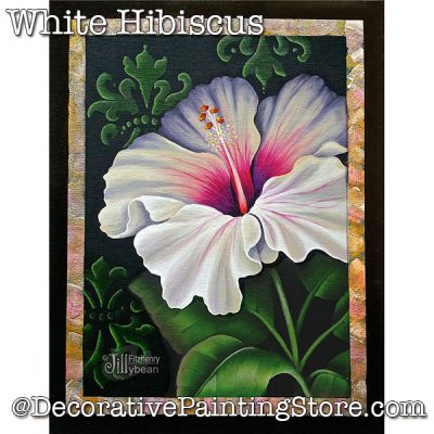 White Hibiscus Rose DOWNLOAD - Jillybean Fitzhenry