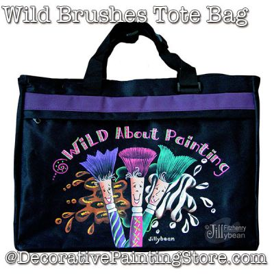 Wild Brushes Tote Download - Jillybean Fitzhenry