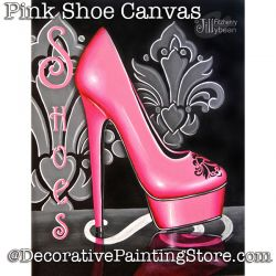 Pink Shoe Canvas PDF Download - Jillybean Fitzhenry