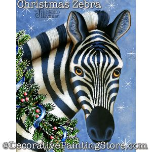 Christmas Zebra PDF Download - Jillybean Fitzhenry