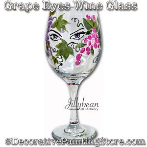 Grape Eyes Wine Glass Download - Jillybean Fitzhenry