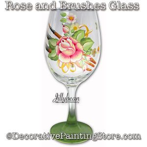 Rose and Brushes Glass Download - Jillybean Fitzhenry