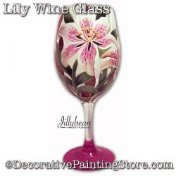Lily Wine Glass Download - Jillybean Fitzhenry