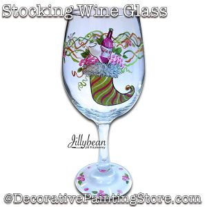 Christmas Stocking Wine Glass Download - Jillybean Fitzhenry