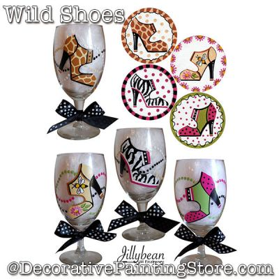 Wild Shoes Wine Glass Download - Jillybean Fitzhenry