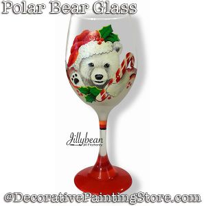 Polar Bear Wine Glass Download - Jillybean Fitzhenry
