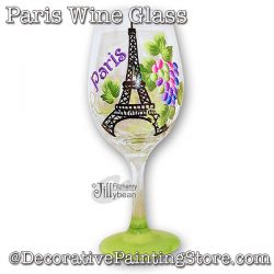 Paris Wine Glass Download - Jillybean Fitzhenry
