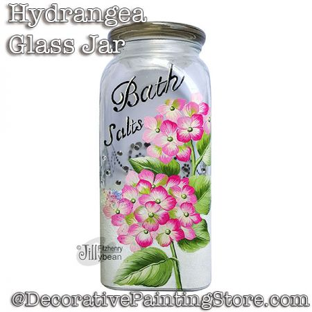 Hydrangea Glass Jar Download - Jillybean Fitzhenry