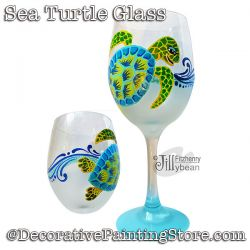 Sea Turtle Wine Glass Download - Jillybean Fitzhenry
