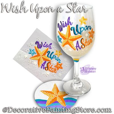 Wish Upon a Star Wine Glass Download - Jillybean Fitzhenry