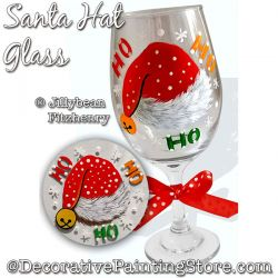 Santa Hat Glass Download - Jillybean Fitzhenry