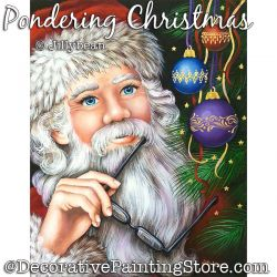 Pondering Christmas Painting Pattern PDF Download - Jillybean Fitzhenry