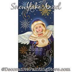 Snowflake Angel Painting Pattern PDF Download - Jillybean Fitzhenry
