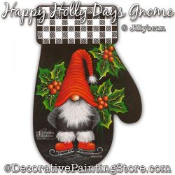 Happy Holly Days Gnome Painting Pattern PDF Download - Jillybean Fitzhenry