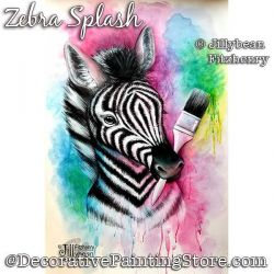 Zebra Splash Painting Pattern PDF Download - Jillybean Fitzhenry