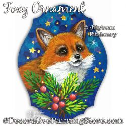 Foxy Ornament Painting Pattern PDF Download - Jillybean Fitzhenry