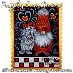 Puppy Love Gnome Painting Pattern PDF Download - Jillybean Fitzhenry