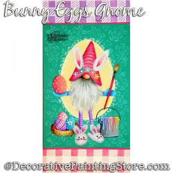 Bunny Eggs Gnome Painting Pattern PDF Download - Jillybean Fitzhenry