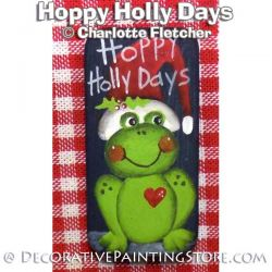 Hoppy Holly Days Domino Pin or Magnet e-Pattern - Charlotte Fletcher - PDF DOWNLOAD