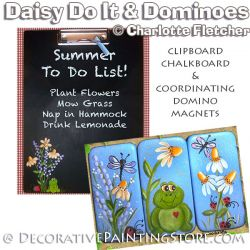 Daisy Do Chalkboard & Domino Magnets e-Pattern - Charlotte Fletcher - PDF DOWNLOAD