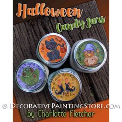 Halloween Candy Jars e-Pattern - Charlotte Fletcher - PDF DOWNLOAD