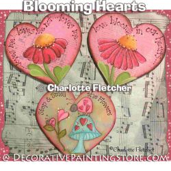 Blooming Hearts e-Pattern - Charlotte Fletcher - PDF DOWNLOAD