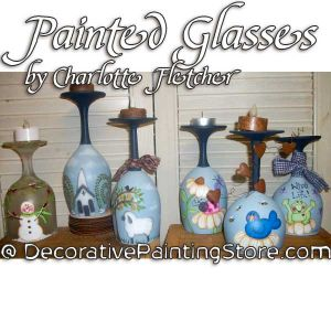 Painted Glasses e-Pattern - Charlotte Fletcher - PDF DOWNLOAD