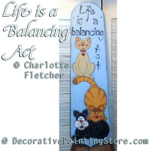 Life Is a Balancing Act e-Pattern - Charlotte Fletcher - PDF DOWNLOAD