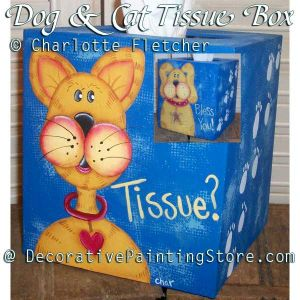 Dog and Cat Tissue Box e-Pattern - Charlotte Fletcher - PDF DOWNLOAD