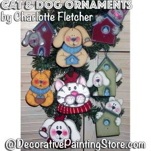 Cat and Dog Ornaments e-Pattern - Charlotte Fletcher - PDF DOWNLOAD