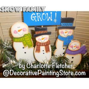 Snow Family e-Pattern - Charlotte Fletcher - PDF DOWNLOAD