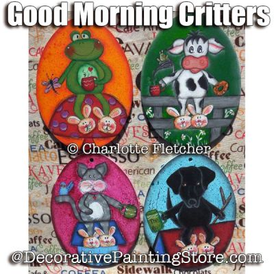 Good Morning Critters e-Pattern - Charlotte Fletcher - PDF DOWNLOAD