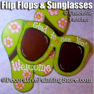 Flip Flops and Sunglasses e-Pattern - Charlotte Fletcher - PDF DOWNLOAD