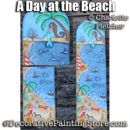 A Day at the Beach e-Pattern - Charlotte Fletcher - PDF DOWNLOAD