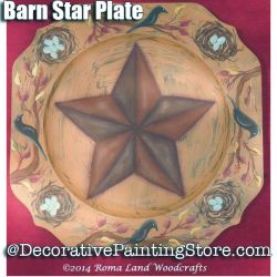 Barn Star Plate e-Pattern - Charlotte Fletcher - PDF DOWNLOAD