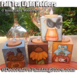 Fall Tea Light Holders e-Pattern - Charlotte Fletcher - PDF DOWNLOAD