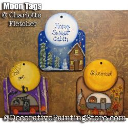 Moon Tags e-Pattern - Charlotte Fletcher - PDF DOWNLOAD