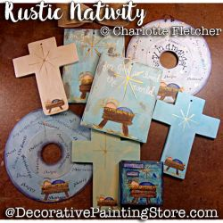 Rustic Nativity e-Pattern - Charlotte Fletcher - PDF DOWNLOAD