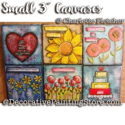 Small Three Inch Canvases e-Pattern - Charlotte Fletcher - PDF DOWNLOAD