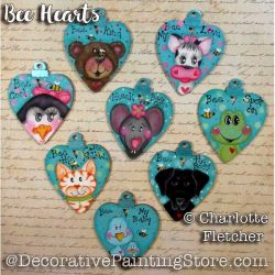 Bee Hearts e-Pattern - Charlotte Fletcher - PDF DOWNLOAD