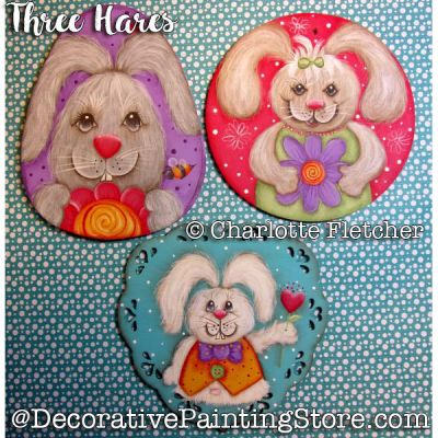 Three Hares e-Pattern - Charlotte Fletcher - PDF DOWNLOAD