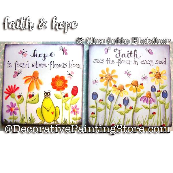 Faith and Hope e-Pattern - Charlotte Fletcher - PDF DOWNLOAD